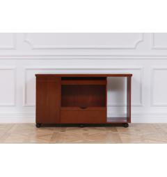 mobiletto per scrivania ad angolo legno