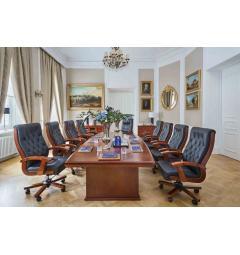 Tavolo da conferenza e riunione in stile classico per ufficio o studio professionale PRESTIGE S610 da 3,2 Metri