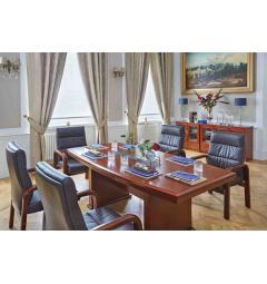 Tavoli sala riunioni legno con poltrone e sedie