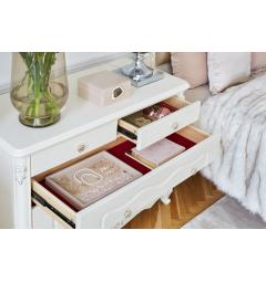 cassettiere classiche avorio panna legno bianco