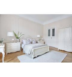 letti classici bianchi avorio in legno pregiato