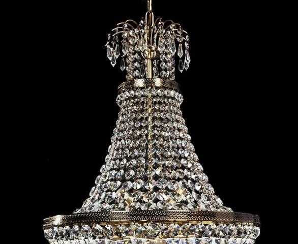 Lampadario di cristallo a sospensione stile classico per salone stanza