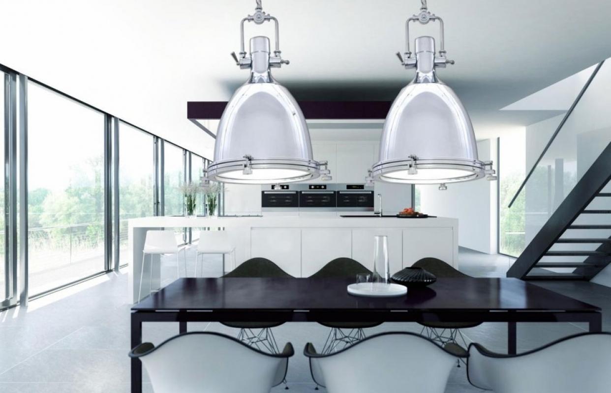 Lampadario A Sospensione Moderno In Stile Industriale Vintage  #7E4129 1242 800 Lampadari X Cucine Classiche