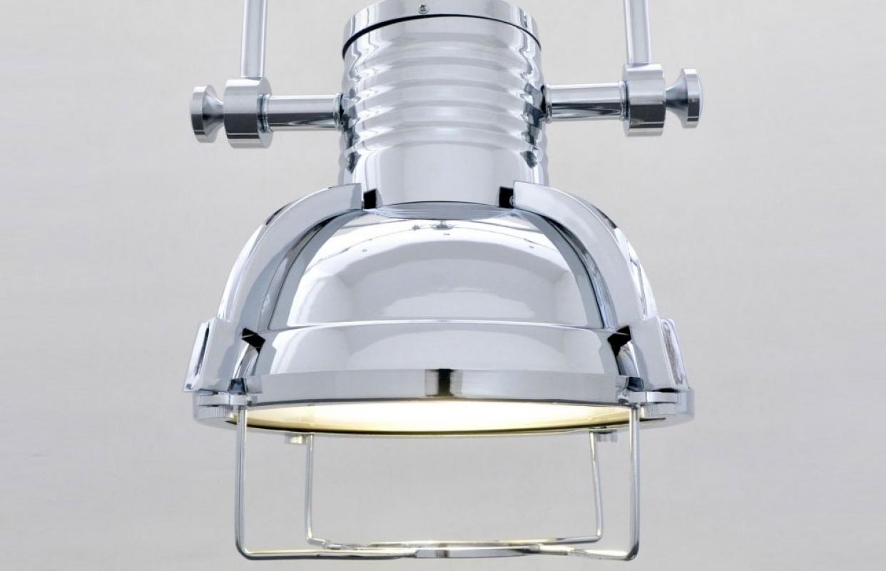lampadario stile industriale : ... > Lampadario a sospensione stile industriale Loffi Cromato