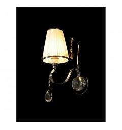 Applique lampada da parete da muro moderno classico cromato con cristalli per interni con 1 braccio colore Bianco Finezzia