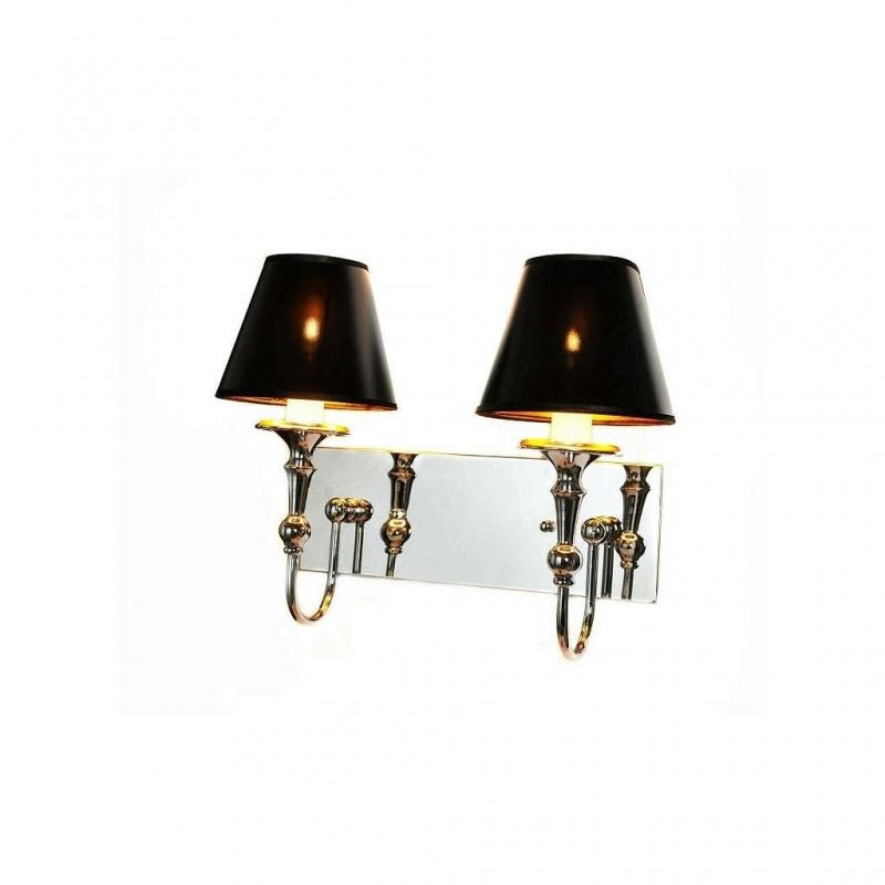 Applique da parete in metallo cromato moderna con due punti luce