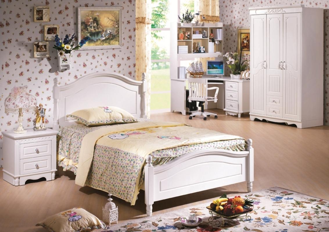 Comodo ed elegante comodino in colore bianco per camera da letto Casa