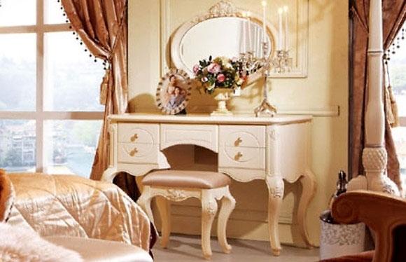 Toletta con specchio bella 905 colore avorio - Toletta con specchio ...