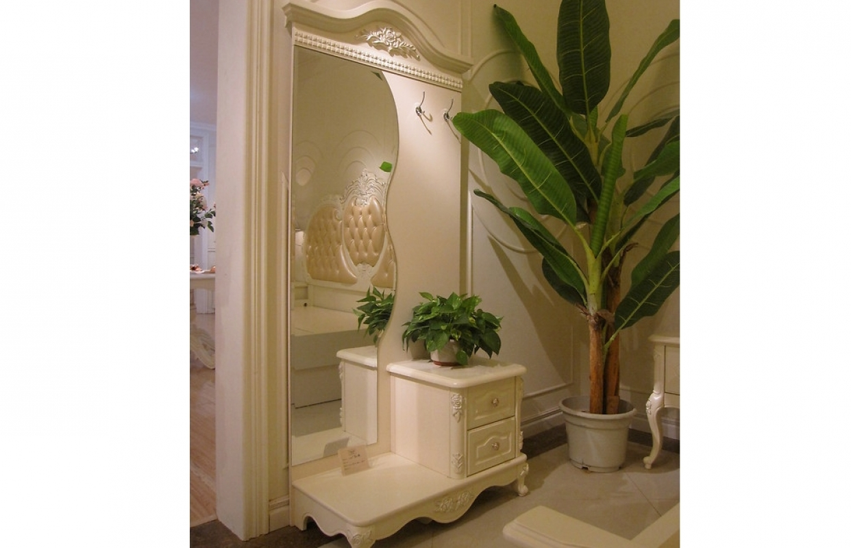 Mobile ingresso moderno con specchio e appendiabiti specchio
