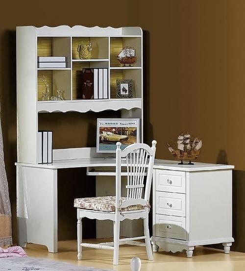 Scrivania con libreria princess 813 colore bianco for Libreria per scrivania