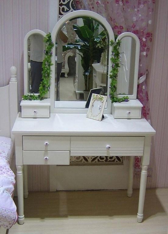 Toletta con specchio princess 808 colore bianco - Toeletta moderna da camera ...