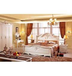 camere da letto classiche avorio con comodini e armadio