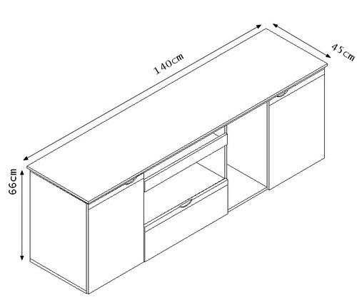 Laterale su ruote per scrivania da 1 4m for Dimensioni mobili ufficio