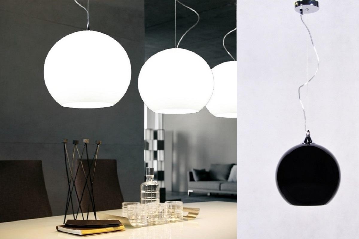 Lampada design a sospensione sfera in vetro temperato - Lampada sospensione design ...