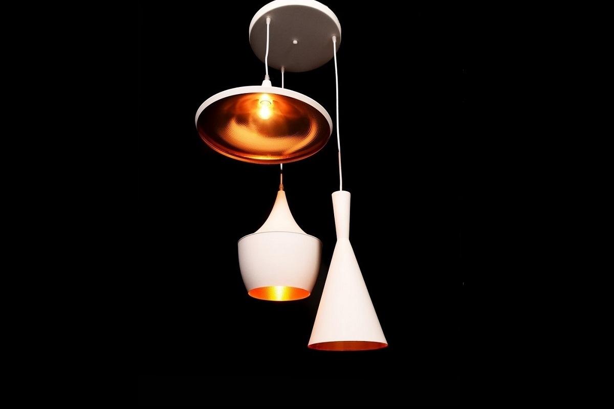 Lampadario Bianco Opaco : Lampadario in stile industriale vintage foggi colore bianco economico