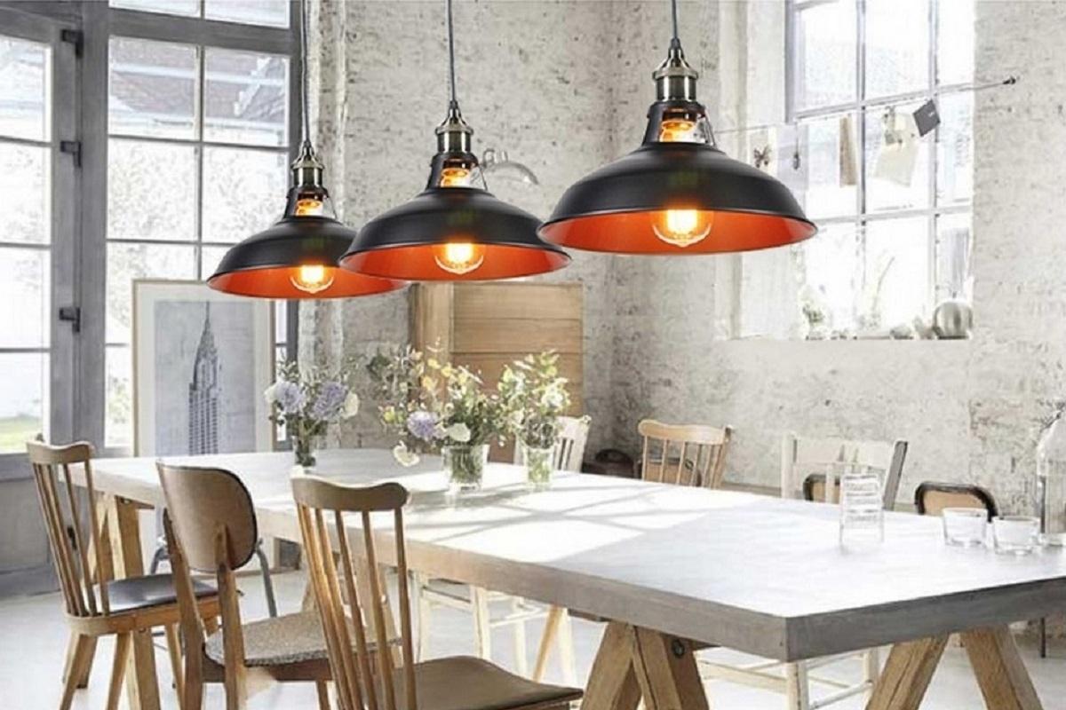 Lampadario in stile industriale vintage a sospensione zonda for Maison du monde lampadari