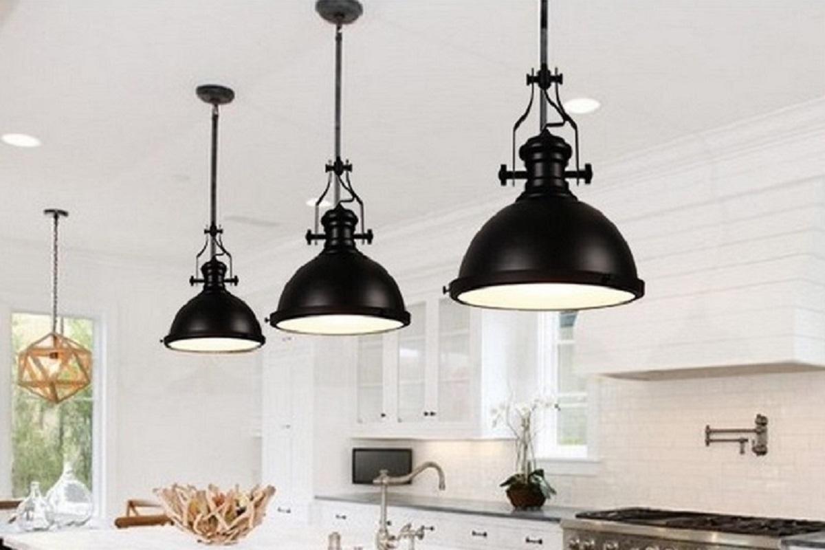 lampadario stile industriale : Illuminazione > Lampadario a sospensione stile industriale Eligio