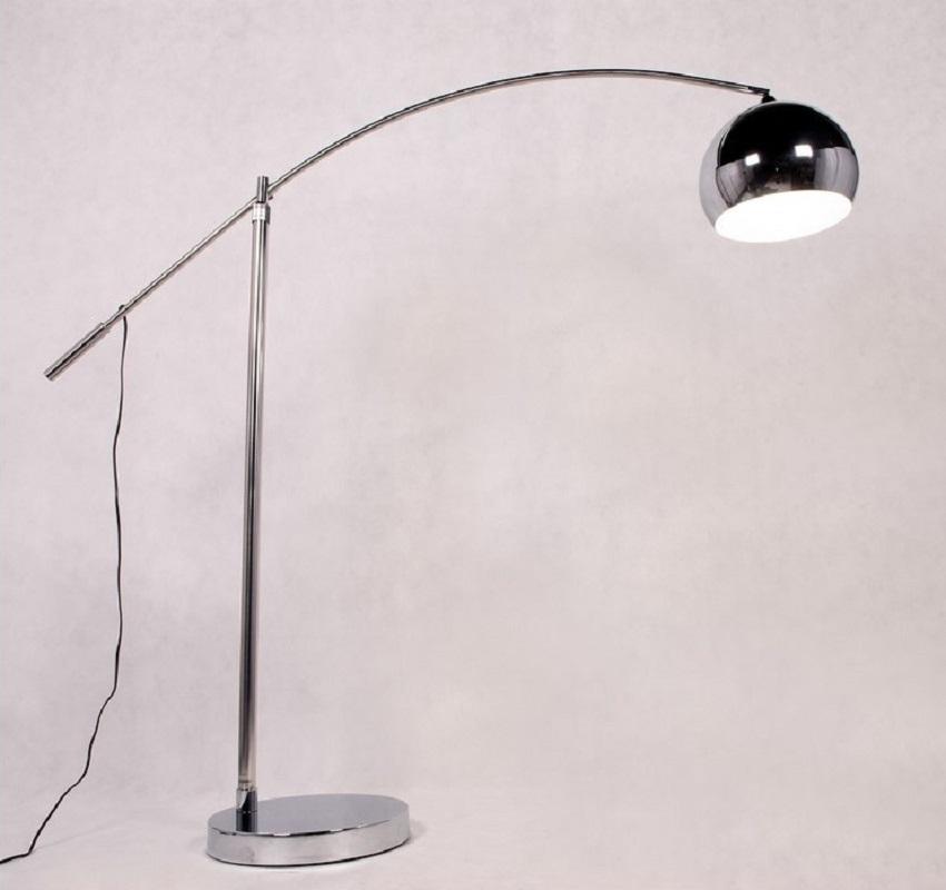 Raffinata lampada da terra ad arco moderna robusta in for Lampada da terra moderna