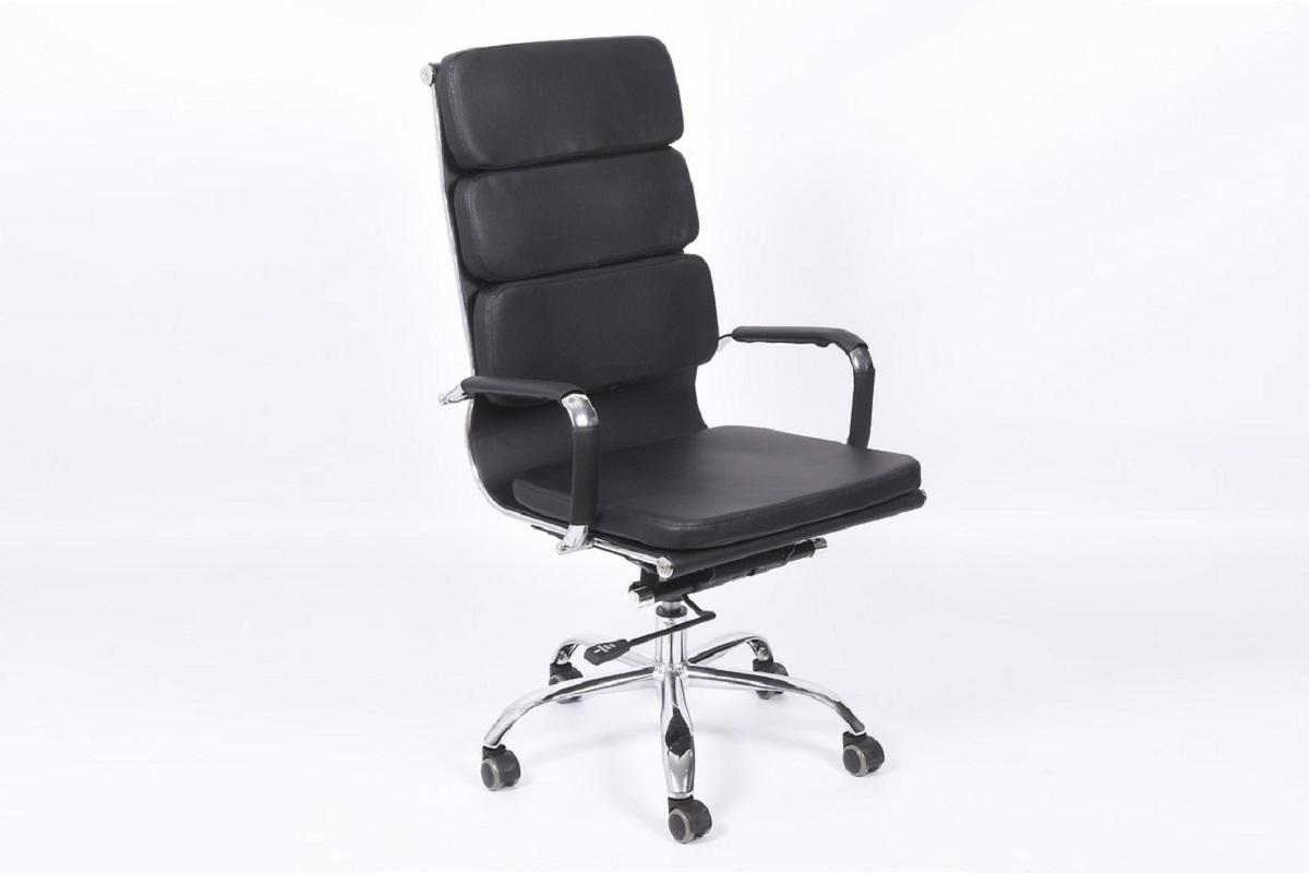 Poltrona ergonomica e economica da ufficio e studio Nero in ecopelle