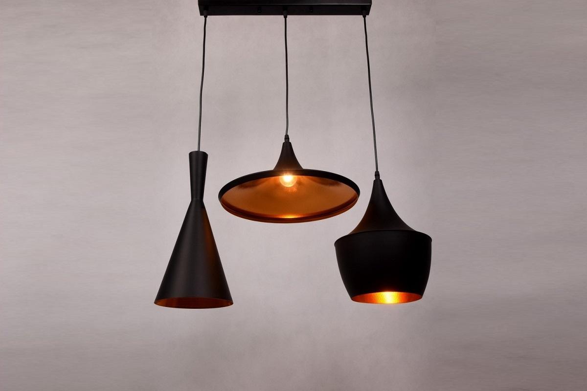 Plafoniere Stile Industriale : Lampadario in stile industriale vintage a sospensione tre luci nero
