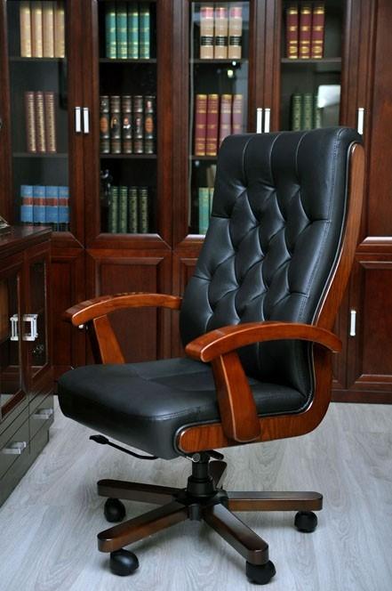 Poltrona direzionale in pelle moderna ed elegante for Cassettiere design per ufficio