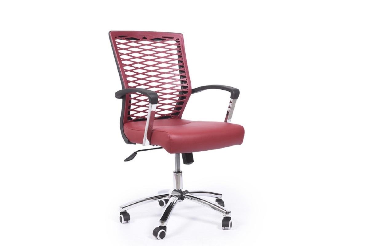 Poltrona ergonomica e economica da ufficio o studio Rosso con ruote