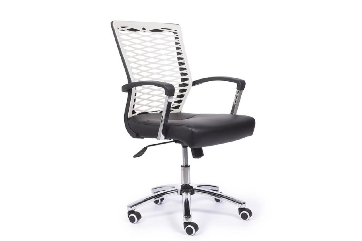 Poltrona ergonomica e economica da ufficio studio bianco for Ufficio bianco e blu