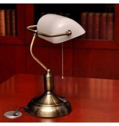 Lampada da tavolo serie Banchiere Ministeriale Bianco