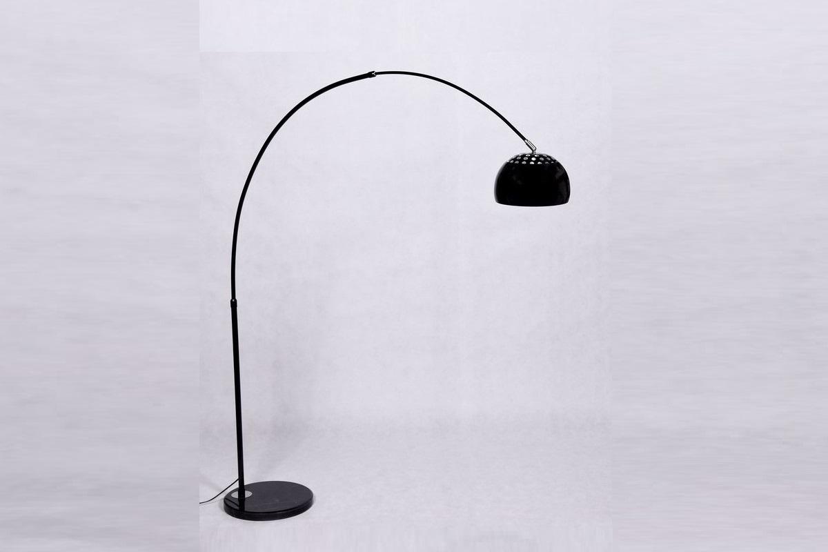 Piantana lampada da terra ad arco stelo 190x170 cm moderno for Piantana ad arco