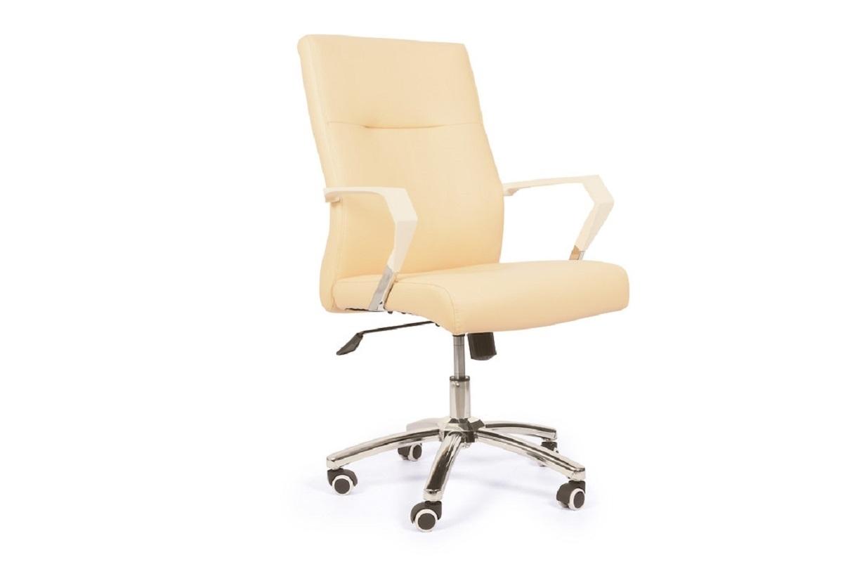 Poltrona ergonomica e economica da ufficio studio in ecopelle Beige
