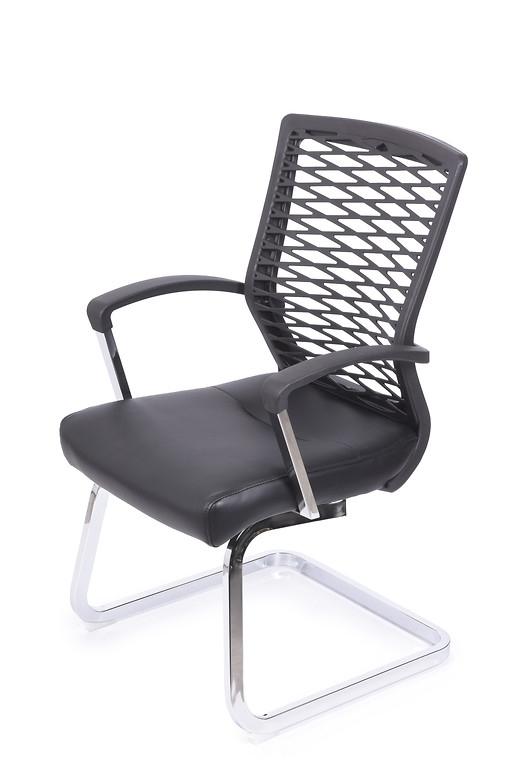 Sedia da conferenza ergonomica e economica per ufficio o studio Nero
