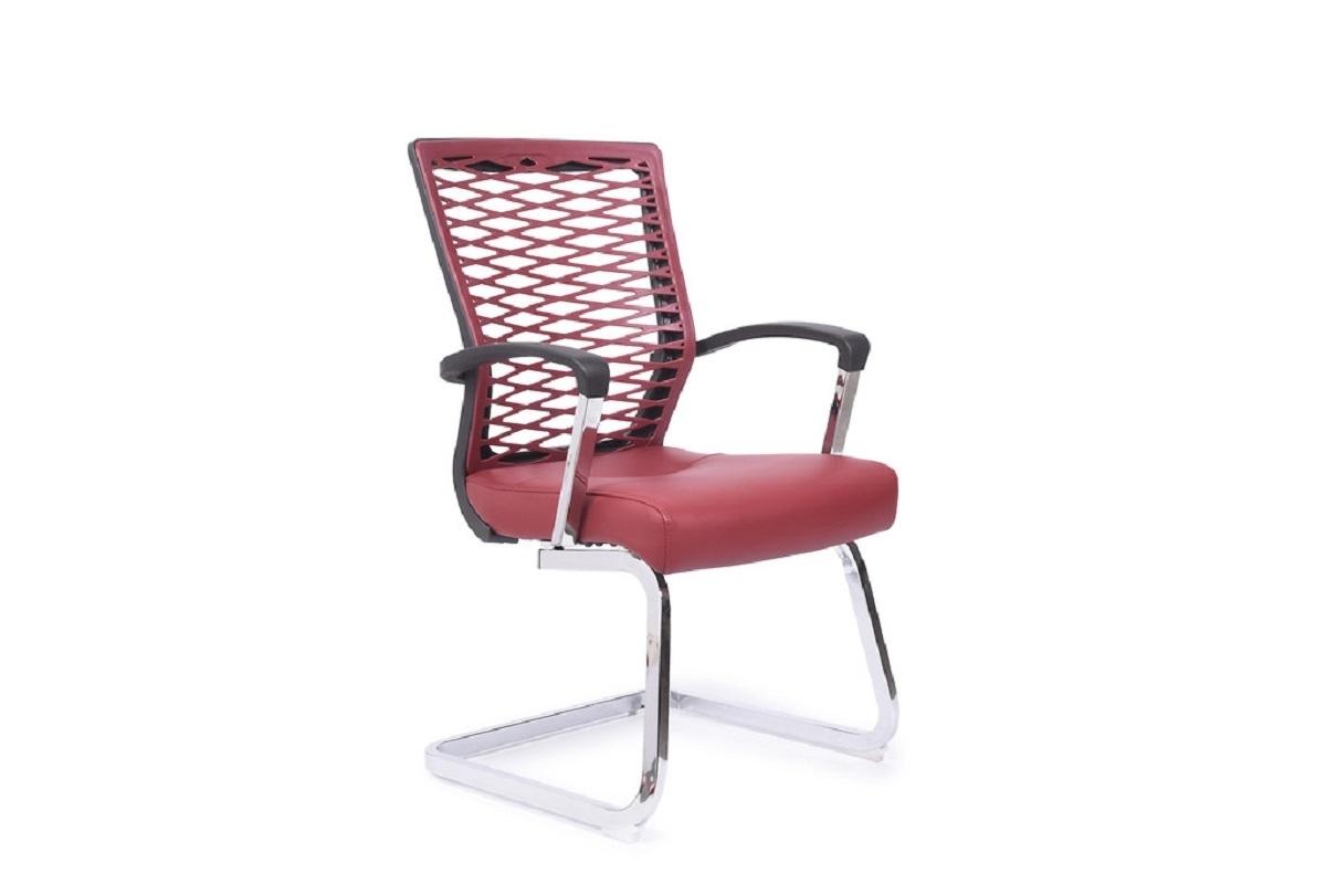Sedia da conferenza ergonomica e economica per ufficio o studio Rosso