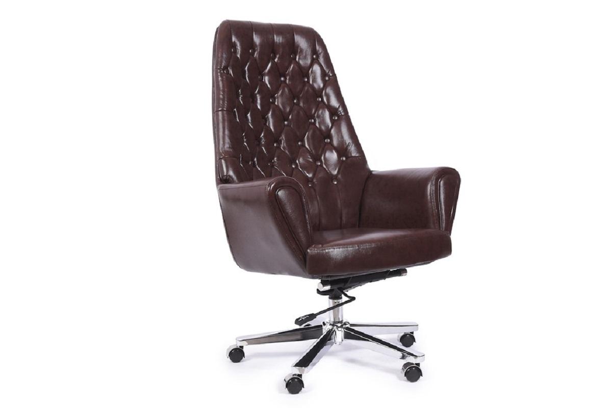 Poltrona sedia direzionale presidenziale in pelle da for Poltrone per studio