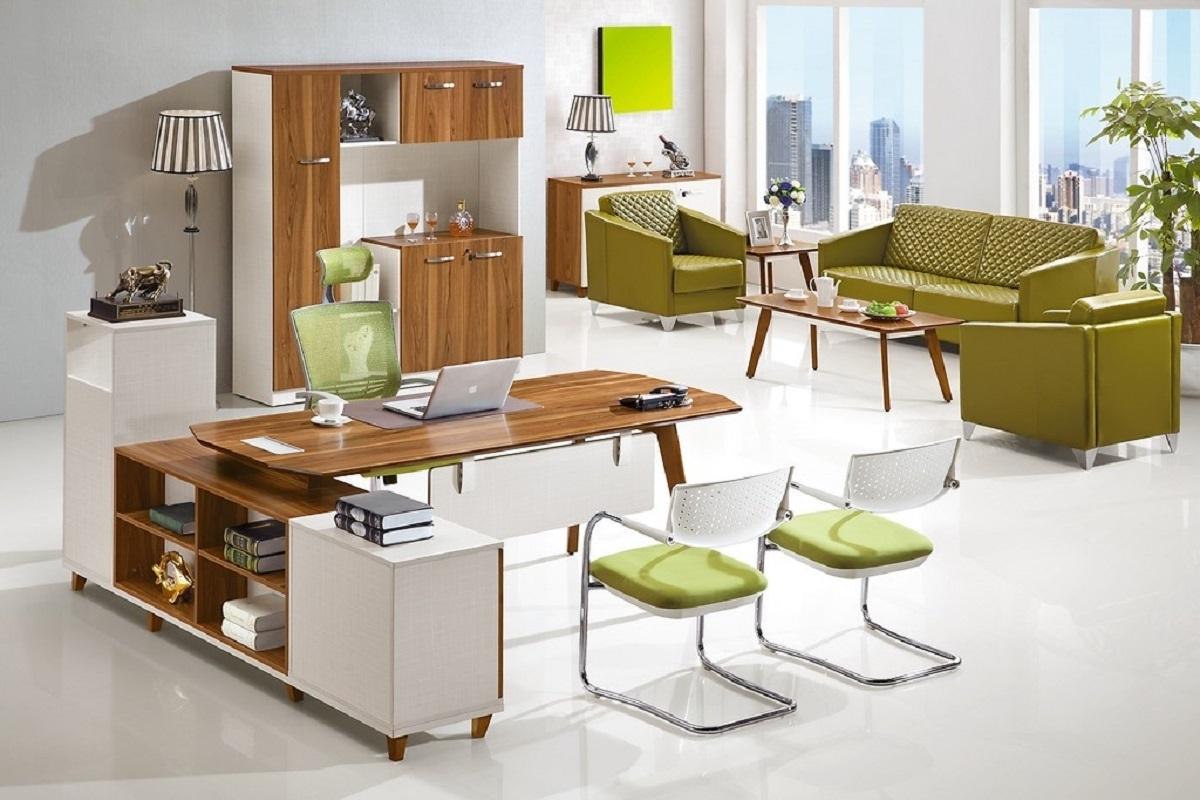 Set da ufficio moderno per manager scrivania e armadio for Ufficio completo