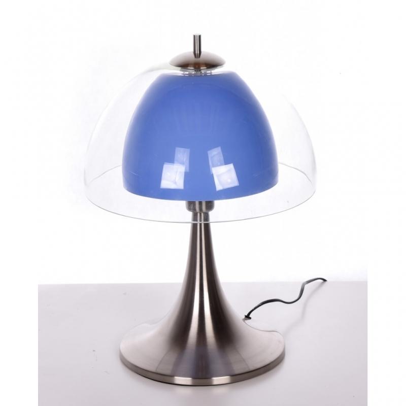 Lampada da tavolo l 39 umetto comodino scrivania abat jour luce moderno agilla blu ebay - Lampada da tavolo vintage ebay ...