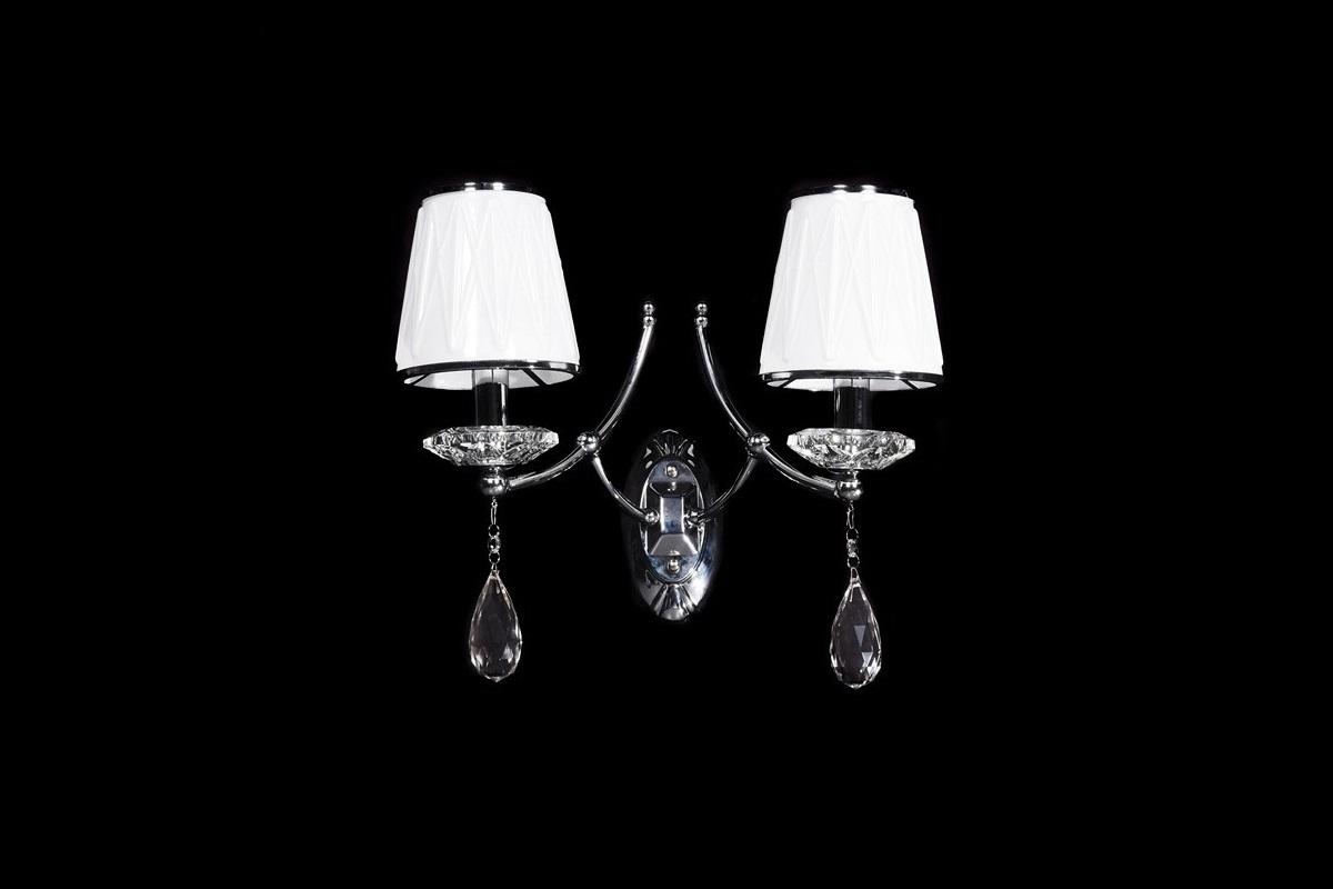Applique lampada da parete in cristallo illuminazione for Parete argento