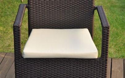 Cuscino per sedie da esterno quadrati sfoderabili