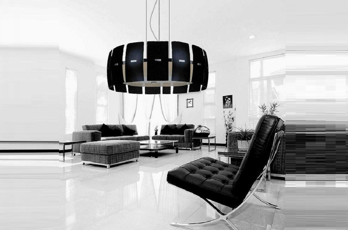 Lampadario moderno ed elegante in Vetro Arte nero per Casa e Ufficio