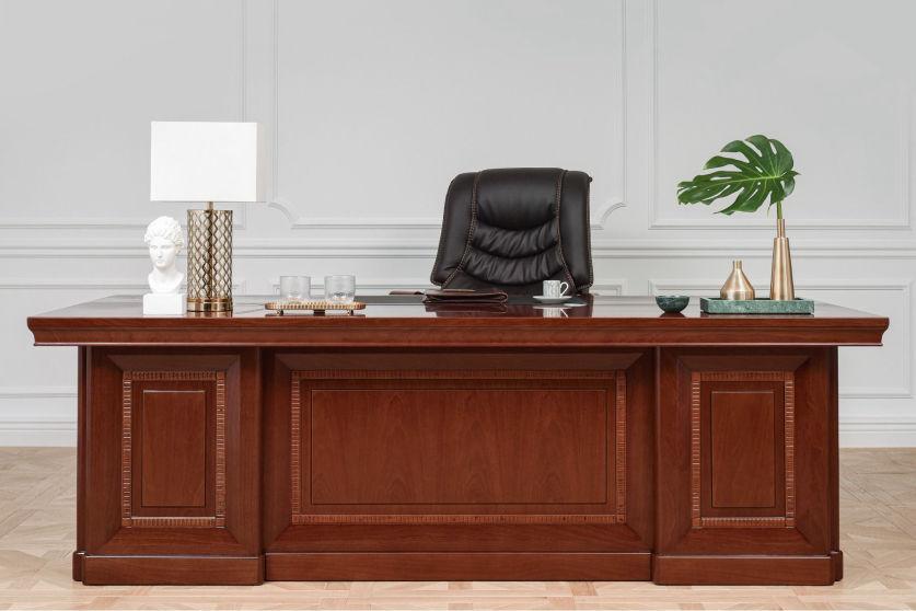 scrivania per notaio legno noce