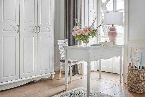 Scrivanie per casa in stile classico di colore bianco economici