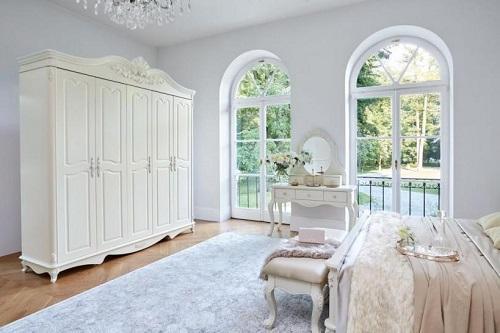 Armadi Vetrine e Librerie per casa stile classico serie bella di colore avorio ARREDIORG.IT