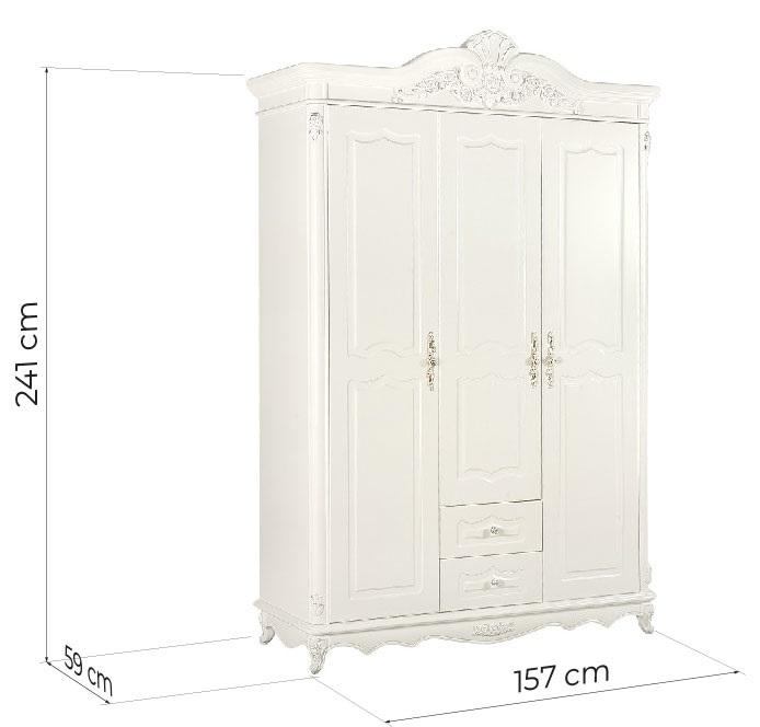 guardaroba classico bianco avorio