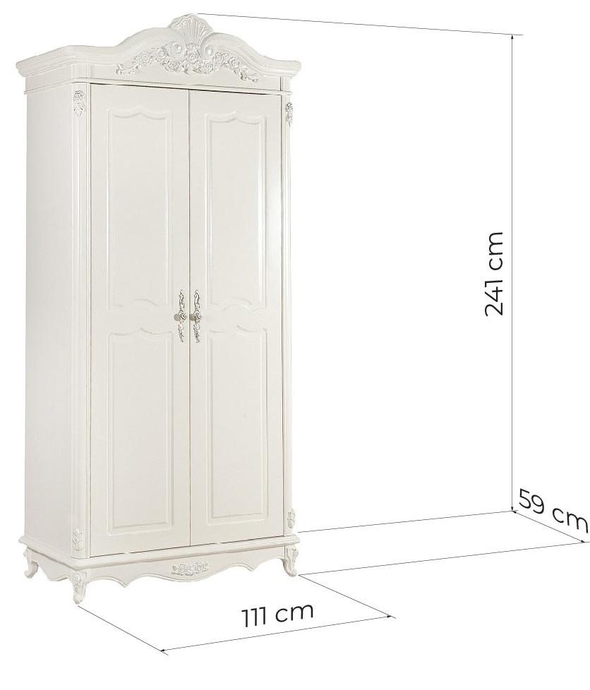 armadio classico bianco avorio due ante