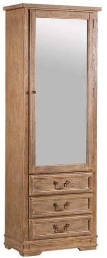 armadio di legno con specchio