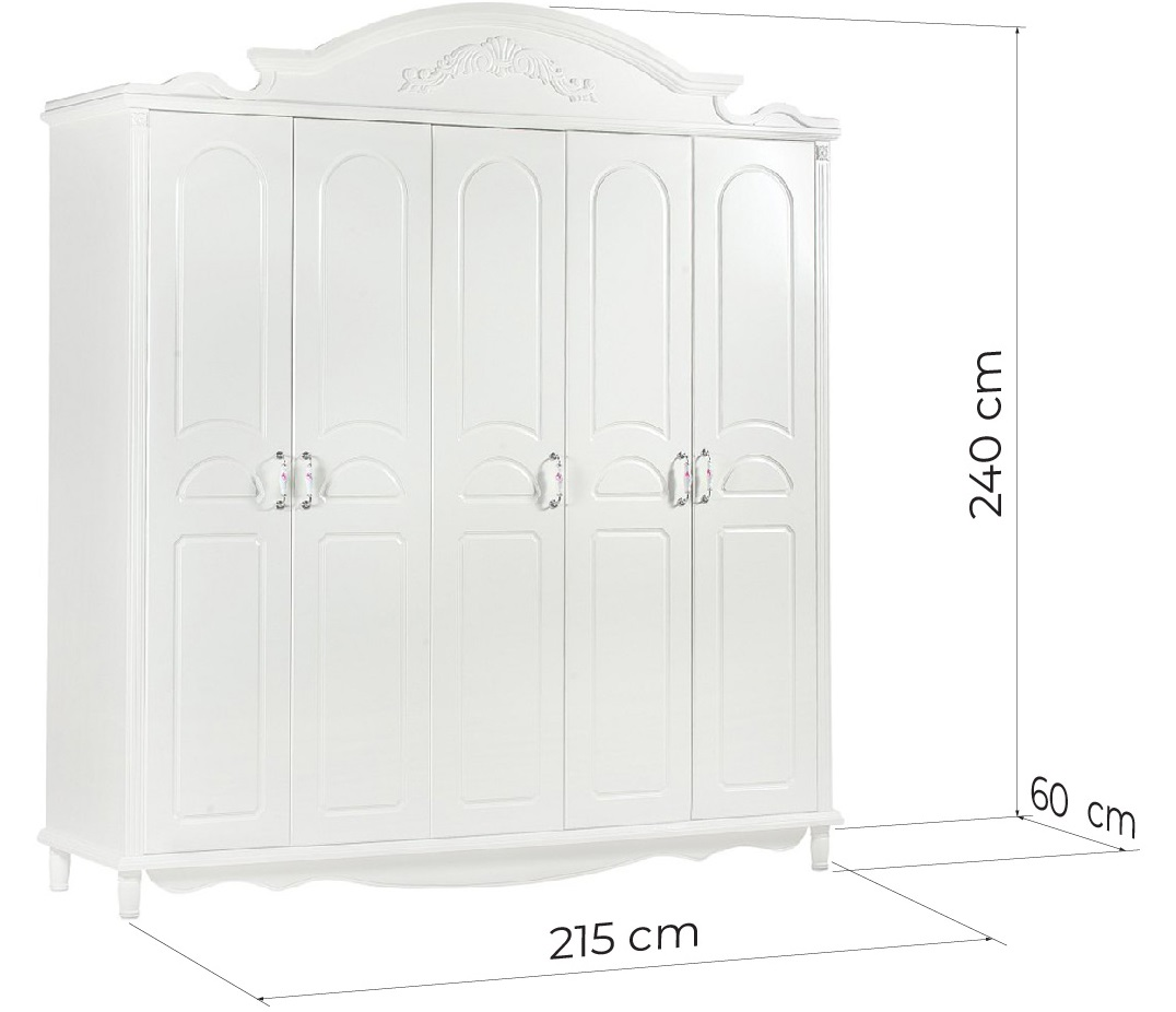 armadio provenzale bianco dimensioni
