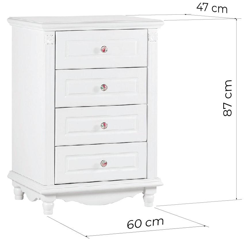 cassettiere provenzali bianche legno misure