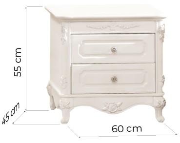 comodini classici legno due cassetti