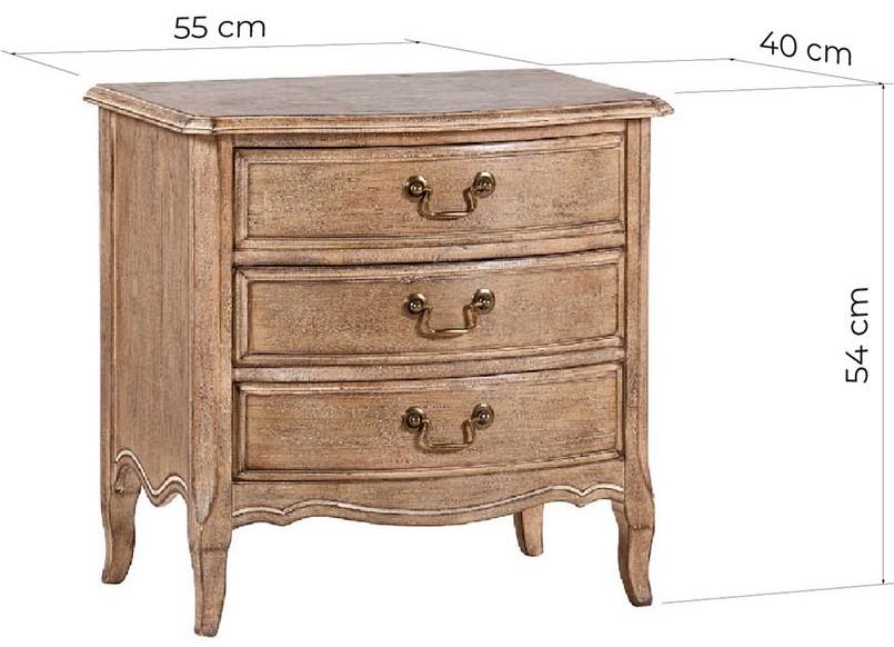 comodini legno shabby con cassetti
