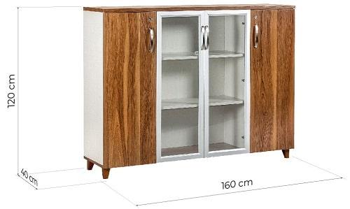 armadio ufficio legno con serratura
