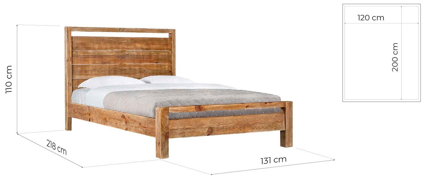 letto legno rustico naturale